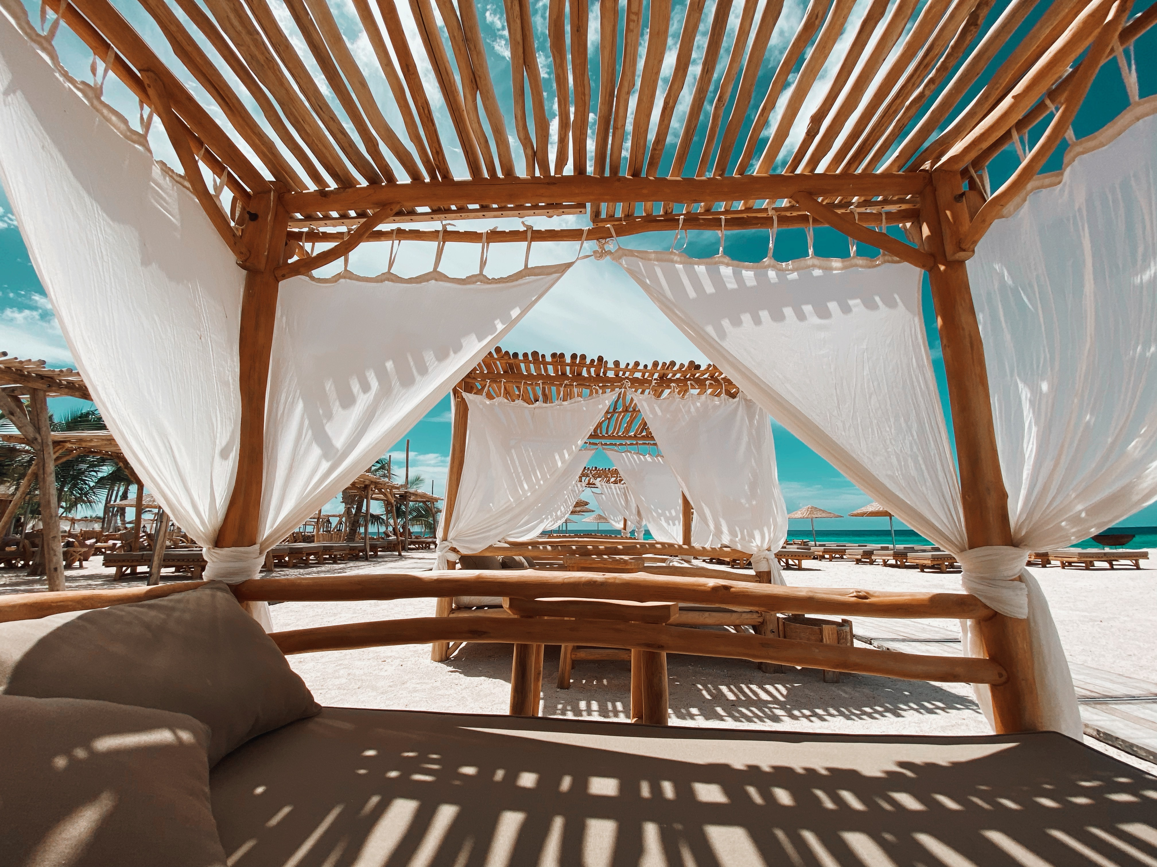 Cabana vibes at Ocean Oasis
